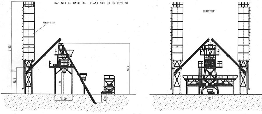 Hzs35 Concrete Batching Plant Focus Hzs35 Concrete Mixing