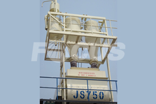 JS750 twin shaft compulsory concrete mixer