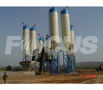 HZS60 Concrete Batching Plant Project 1