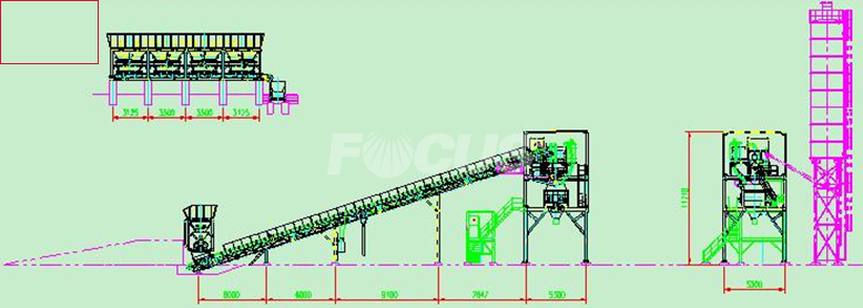 CAD Photo 1 of Installed HZS90 Concrete Batching Plant