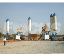 HZS50 concrete mixing plant project 1