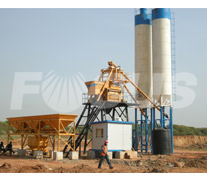 HZS50 Concrete batching plant 2