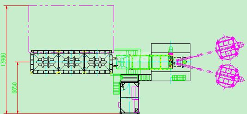 CAD 2 of HZS50 concrete batching plant
