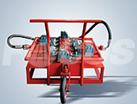 Cycle filtering trolley with 4 sets of high-precision filters