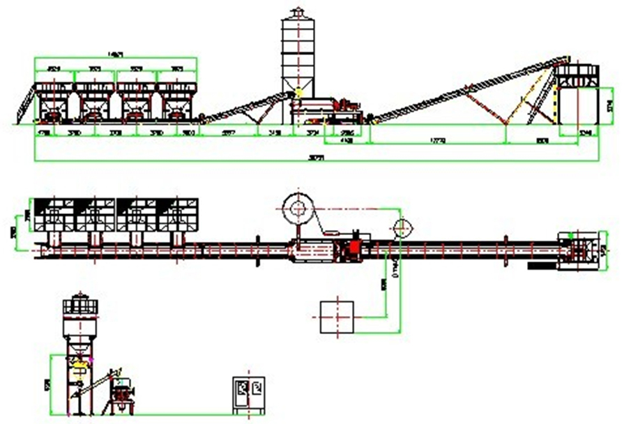 CAD of Stabilized Soil Batching Plant