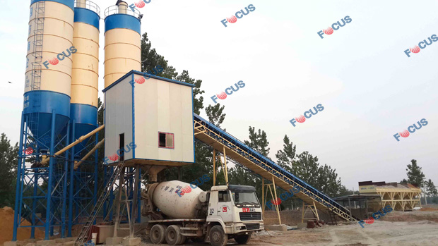 HZS60 Running As Commercial Concrete Factory Photo 5