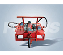 Cycle filter trolley with 4 sets