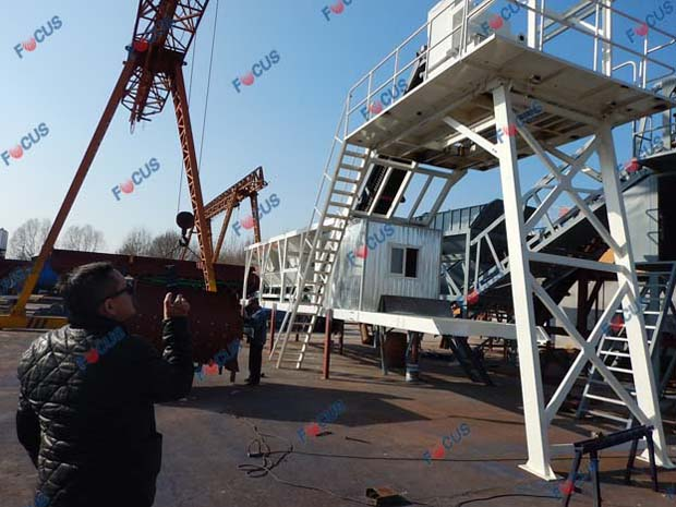 Mongolian Clients Buying Mobile Concrete Plant Photo 3