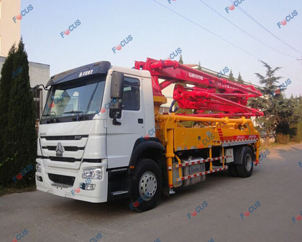 29m and 42m truck mounted concrete line pumps for sale Picture 3